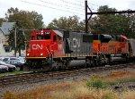 CN 5481, BNSF 9069 on K042